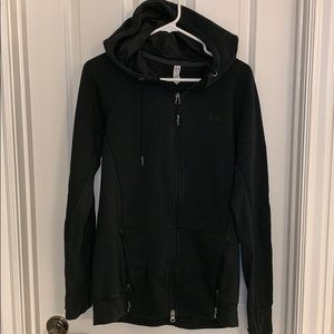 Under Armour Cold Gear zip up hoodie black large